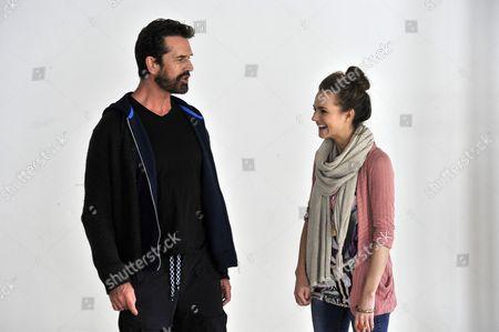 Rupert Everett who plays Professor Higgins and Kara Tointon who plays Eliza Dolittle