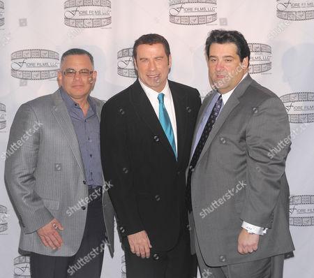 Stock Image of John A Gotti, John Travolta and Marc Fiore
