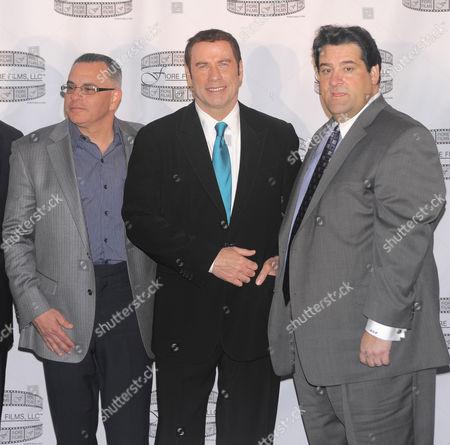 Stock Photo of John A Gotti, John Travolta and Marc Fiore