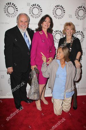 George Schlatter, Jolene Brand Schlatter, Lauren Hutton, Paley Center President Pat Mitchell