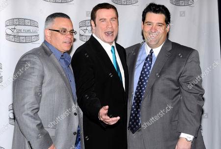 Stock Picture of John A Gotti, John Travolta and Marc Fiore