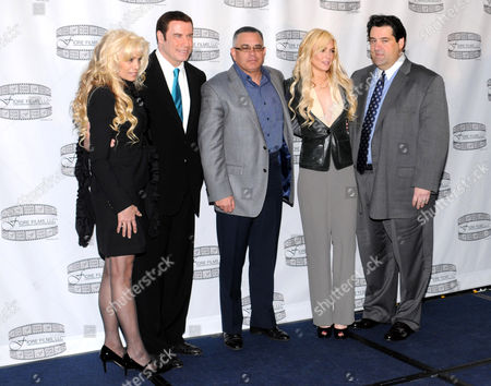Victoria Gotti, John Travolta, John A Gotti, Lindsay Lohan and Marc Fiore