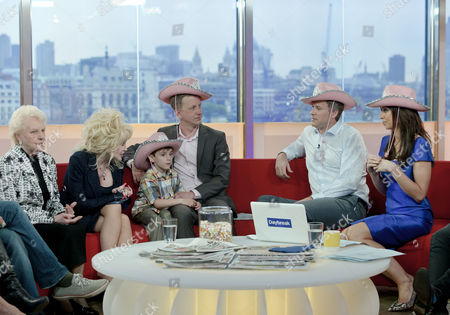 Janey Cutler and Dolly Parton with Dan Lobb and Christine Bleakley