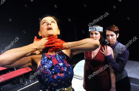 'The Coronation of Poppea' - Rebecca Caine (Ottavia), Jessica Walker (Nero) and Zoe Bonner (Poppea)