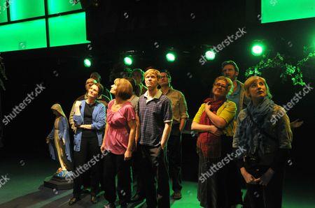 Kate Fleetwood (Julie), Michael Shaeffer (Alfie), Claire Moore (June) and Rosalie Craig (Helen)