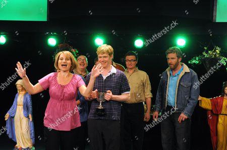 Kate Fleetwood (Julie), Michael Shaeffer (Alfie), Hal Fowler (Tim) and Paul Thornley (Dodge)