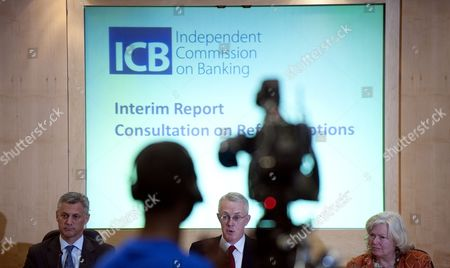 Editorial image of The Independent Commission on Banking press conference, London, Britain - 11 Apr 2011