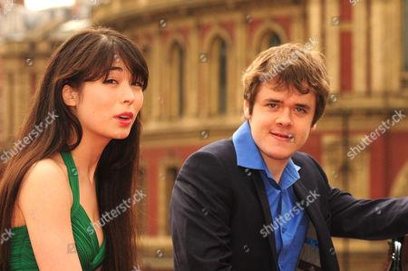 Stock Picture of Pianists Alice Sara Ott and Benjamin Grosvenor