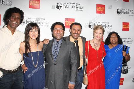 L to R Srinivas Kapavarapu; Surina Jindal; Parvesh Cheena ; Rizwan Manji ; Pippa Black and Thushari Jayasekhara