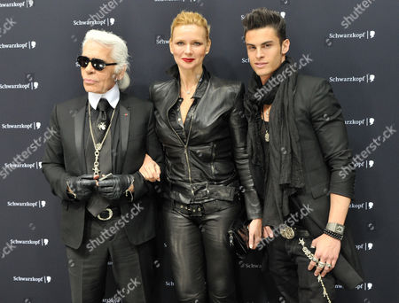 Stock Picture of Karl Lagerfeld, Veronica Ferres, Jean - Baptiste Giabiconi