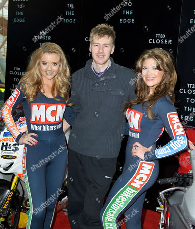 Ian Hutchinson TT Rider, with Sophia Blakey and Georgina Terrana, MCN Grid Girls