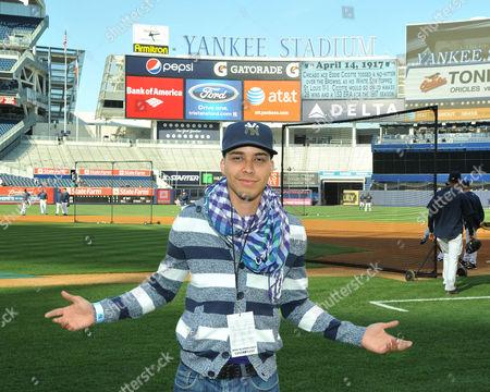 Editorial photo of Prince Geoffrey Royce Rojas attends New York Yankees baseball game, Yankee Stadium, New York, America - 14 Apr 2011