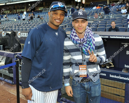 Stock Picture of Robinson Cano and Prince Royce