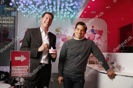 Rob Baines and Pablo Uribe founders and owners of Snog frozen yogurt shops.