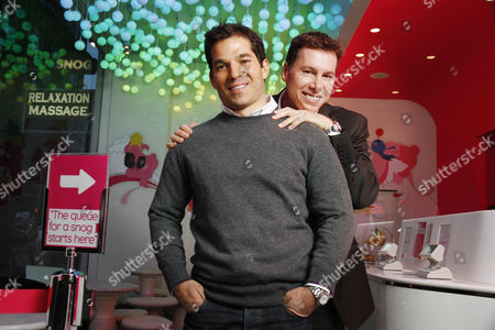 Stock Picture of Pablo Uribe and Rob Baines founders and owners of Snog frozen yogurt shops.