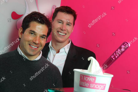 Stock Image of Pablo Uribe and Rob Baines founders and owners of Snog frozen yogurt shops.