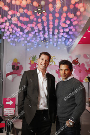 Editorial photo of Founders and owners of Snog frozen yogurt shops, Soho, London, Britain - 20 Dec 2010