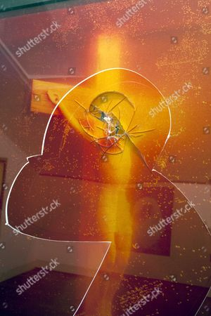 'Immersion' or 'Piss Christ', a 1987 photograph by Andres Serrano, after being damaged