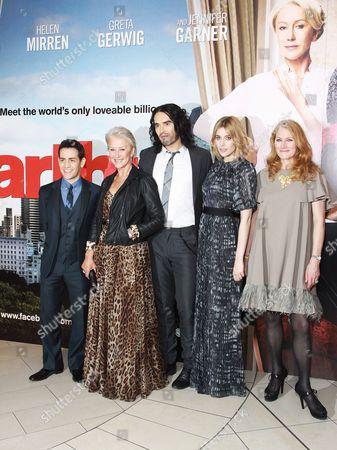 Director Jason Winter, Helen Mirren, Russell Brand, Greta Gerwig and Geraldine James