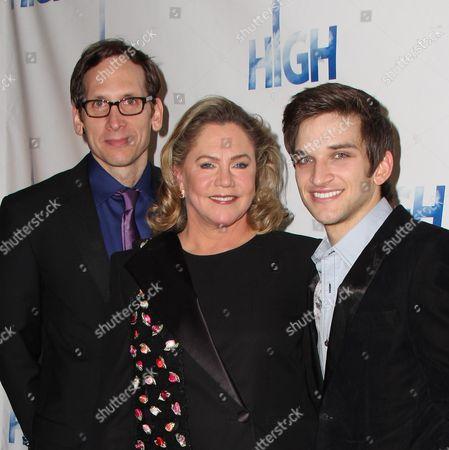 Stephen Kunken, Kathleen Turner and Evan Jonigkeit