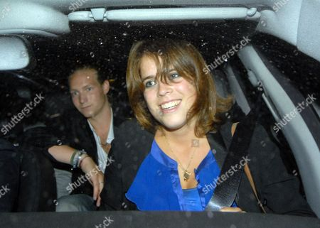 Princesse Eugenie leaving the Mahiki night club with Sam Sangster.