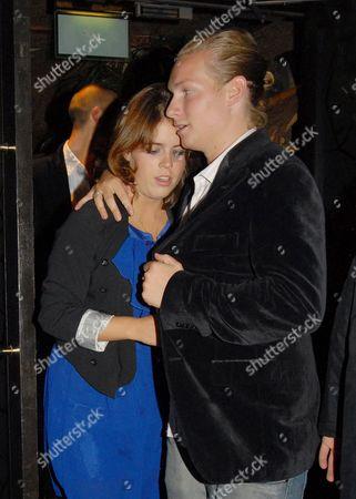 Princess Eugenie leaving the Mahiki night club with Sam Sangster.