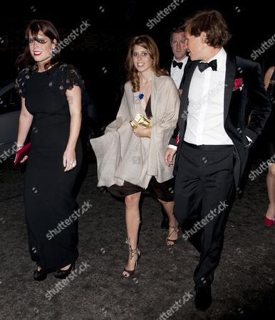 Princess Eugenie, Princess Beatrice and Dave Clark
