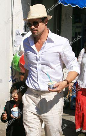 Brad Pitt and his son Pax Thien Jolie-Pitt