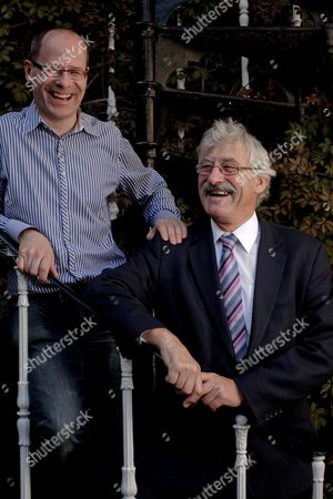 Stock Picture of Hugh Brasher, the new director of the London Olympic marathon and David Bedford