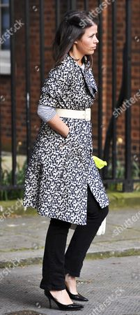 Isabel Spearman a former PR to designer Anya Hindmarch is Mrs Camerons personal assistant arriving at No10 this morning. London, Britain