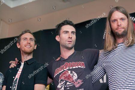 Maroon 5 - Jesse Carmichael, Adam Levine and James Valentine