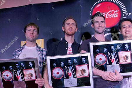 Maroon 5 - Michael Madden, Jesse Carmichael and Adam Levine