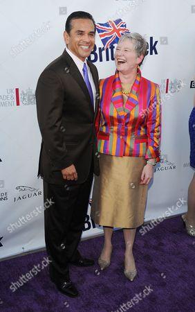 LA Mayor Antonio Villaraigosa and Dame Barbara Hay