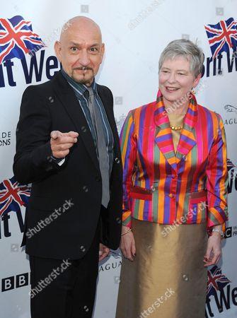 Sir Ben Kingsley and Dame Barbara Hay
