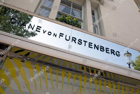 Diane von Furstenburg fashion shop, London, England, Britain.