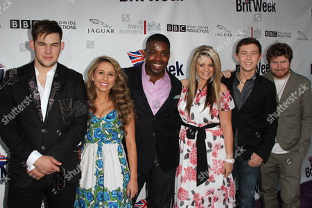 James Durbin and Casey Abrams, Jacob Lusk, Lauren Alaina and Hal