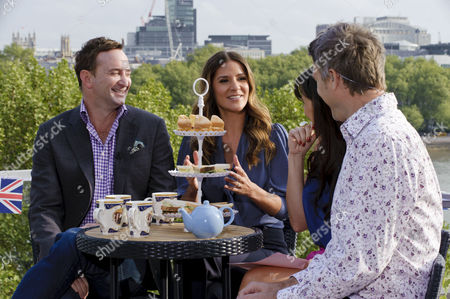 Clinton Kelly and Amanda Byram with Christine Bleakley and Dan Lobb