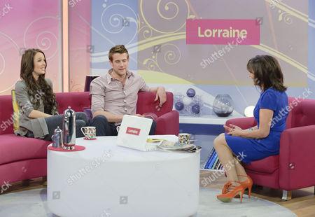 Camilla Luddington and Nico Evers-Swindell with Lorraine Kelly.