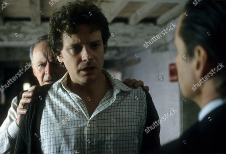 Robert Urquhart as Dadda Whalby, Colin Firth as Stephen Whalby and George Costigan as DI Manciple
