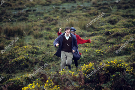 Colin Firth as Stephen Whalby and Rachel Fielding as Painter on the Moor