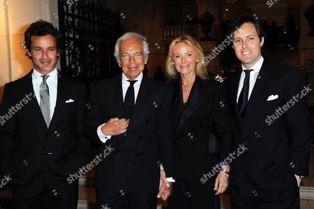 Ralph Lauren and wife Ricky Lauren with sons David Lauren and Andrew Lauren
