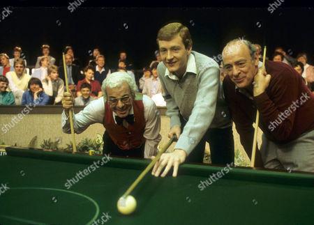 Steve Davis with Barry Cryer and John Junkin