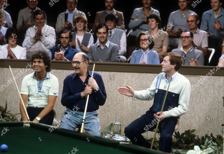 Steve Davis with Alfred Marks and Stan Boardman