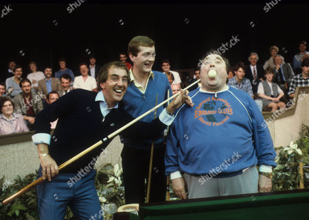 Steve Davis with Bernard Manning and Lennie Bennett