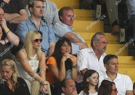 Christine Bleakley (C) in the stands with Frank Lampard Snr