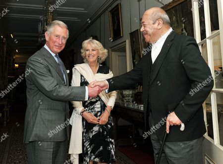 Stock Photo of Prince Charles, Camilla Duchess of Cornwall and His Majesty King George Tupou V of Tonga