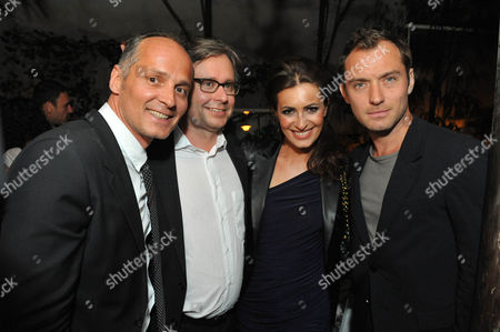 Bernd Schlacher, Alexander Wrabetz, Doris Golpashin and Jude Law