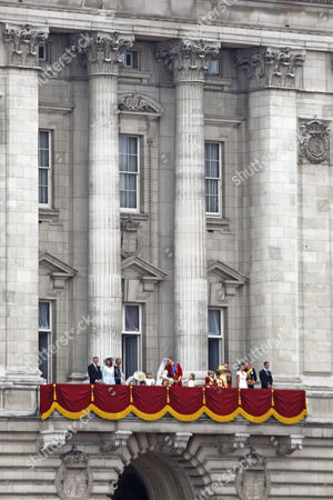 Michael Middleton, Carole Middleton, Prince Charles, Camilla Duchess of Cornwall, bridesmaids Eliza Lopes, Lady Louise Windsor, Grace van Cutsem, Margarita Armstrong-Jones, Catherine Duchess of Cambridge and Prince William, pageboys Tom Pettifer, William 'Billy' Lowther-Pinkerton, Queen Elizabeth II, Prince Philip, Pippa Middleton, Prince Harry, James Middleton