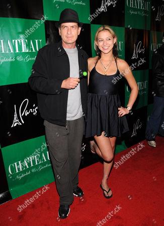 Charlie Sheen and Natalie Kenley