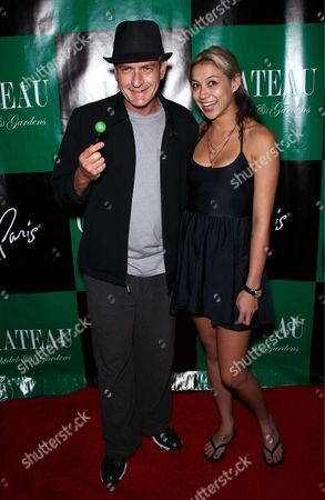 Stock Picture of Charlie Sheen and Natalie Kenley